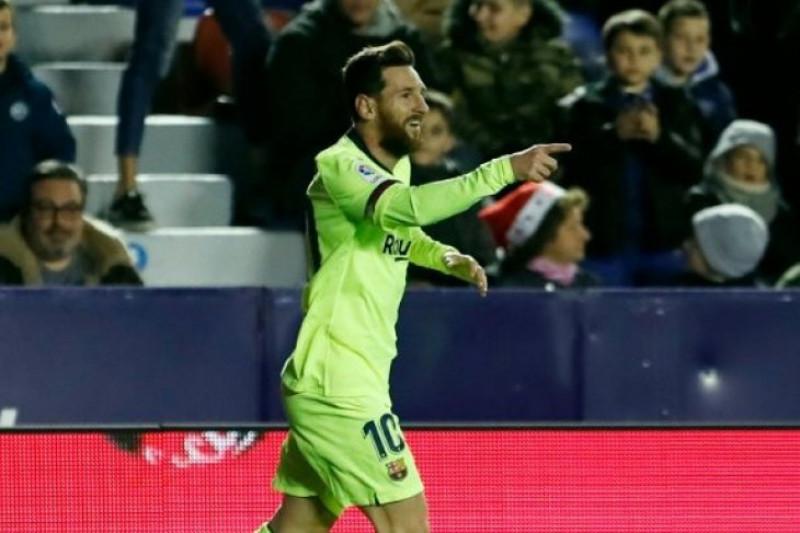 Koleksi 14 gol, Messi rajai daftar top skor Liga Spanyol