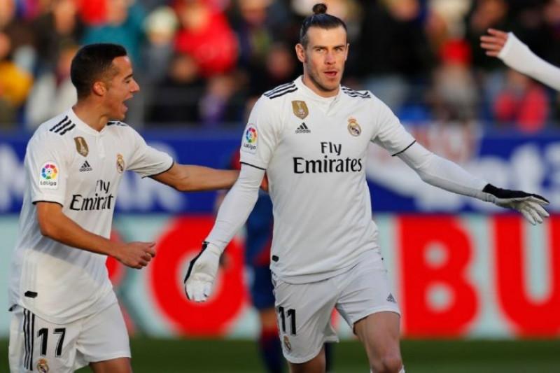 Tendangan voli Bale menangkan Madrid atas tim juru kunci