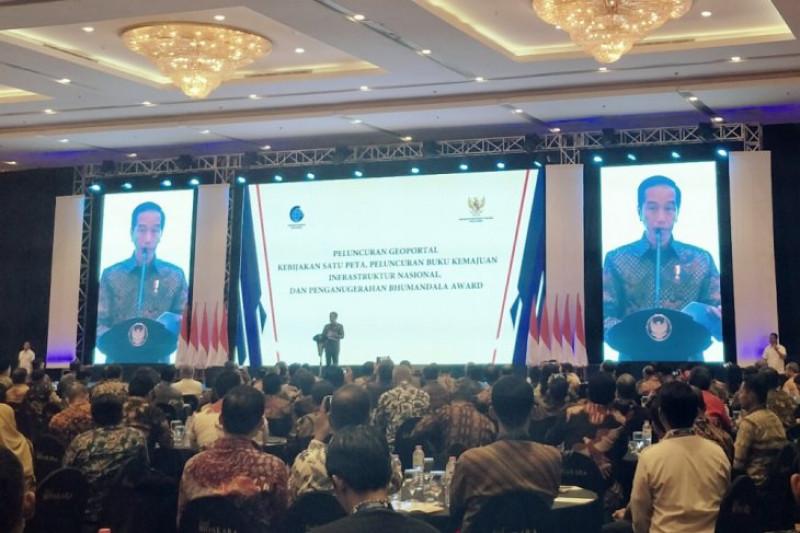 Presiden Jokowi luncurkan Geoportal Kebijakan Satu Peta
