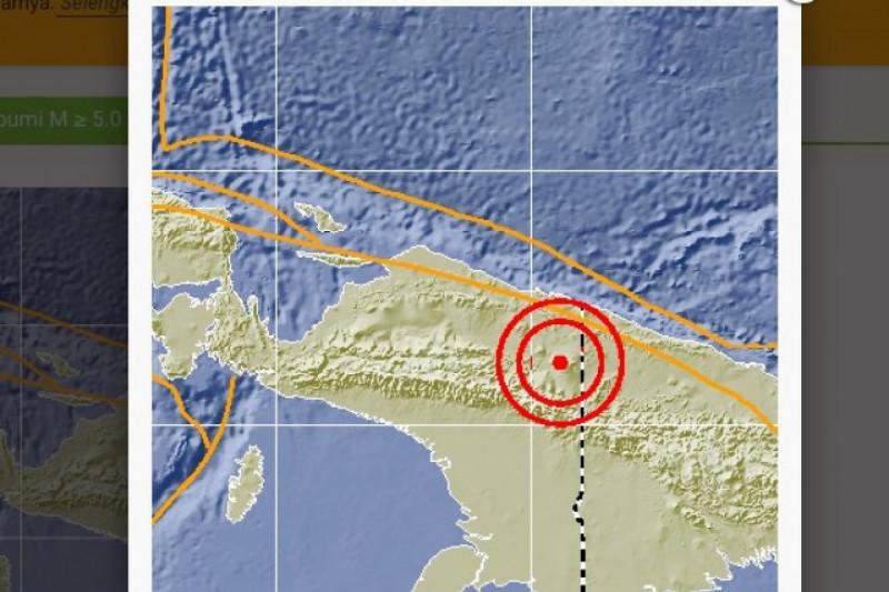 Gempa 61 SR guncang Keerom di Papua