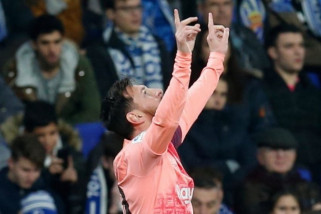 Barcelona gasak Espanyol 4-0, messi sumbang dua gol