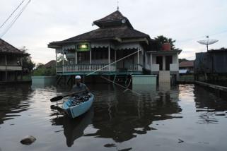 Banjir luapan Sungai Batanghari di Pelayangan Kota Jambi