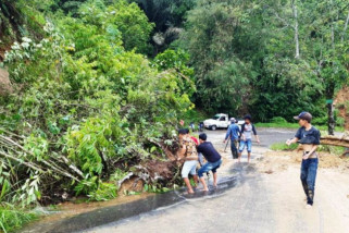 Jalur Padang-Kerinci tertimbun longsor di Solok