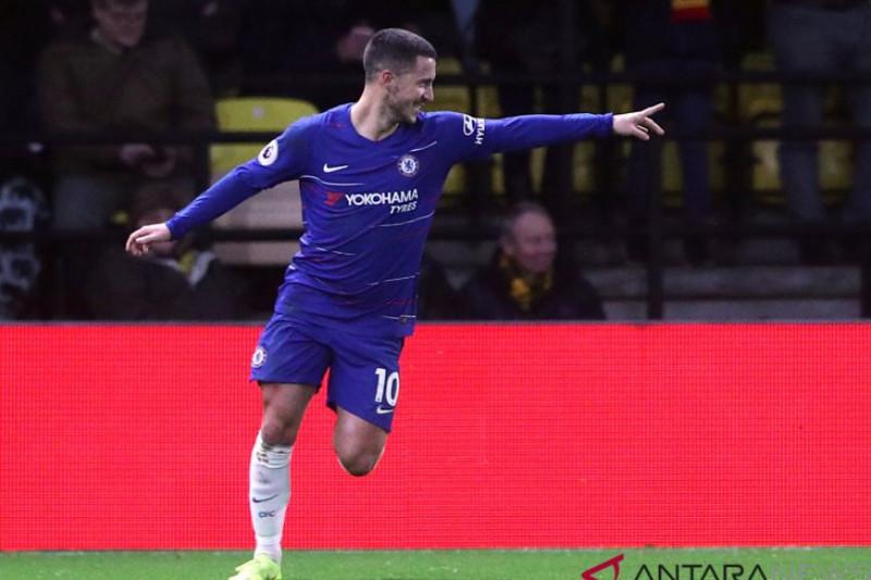 Masih diincar Madrid, Chelsea banderol Hazard 100 juta poundsterling