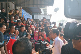 Presiden Jokowi kunjungi Pasar Ngemplak Tulungagung