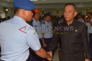 Menteri Pertahanan Berkunjung ke Lanud Iswahjudi Magetan