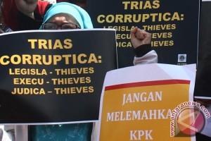 Aksi Dukung KPK Malang