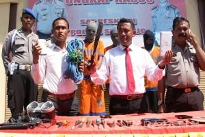Polres Sidoarjo Bekuk Tiga Pelaku Pembobol Rumah