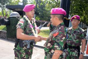 Prajurit Marinir Kembali dari Tugas Ambalat