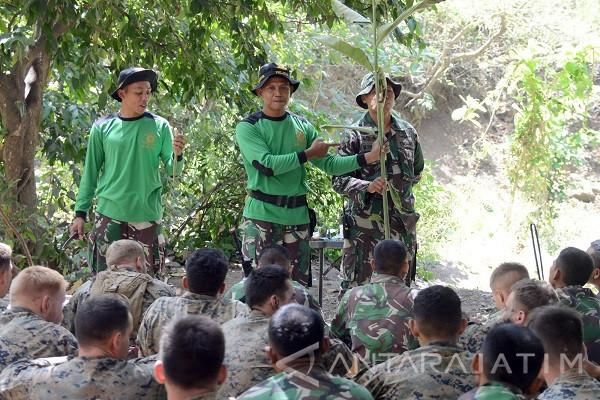 Marinir TNI AL-Amerika Latihan Bertahan Hidup
