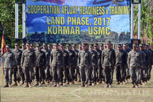 Latihan Bersama Marinir Indonesia - Amerika