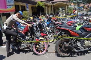 Polisi Amankan Motor Pesilat