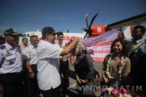 Penerbangan Perdana Surabaya-Sumenep