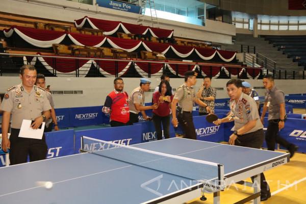 Polda Jatim Menggelar Kejuaraan Tenis Meja Bertaraf Internasional