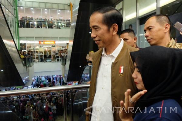 Presiden Kunjungi Mal di Palembang