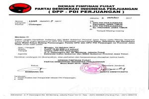 Pasangan Cagub Jatim asal PDIP Diumumkan di Jakarta 15 Oktober