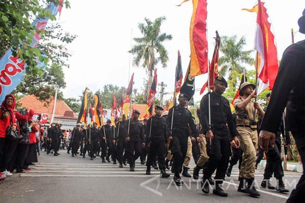 Napak Tilas Brimob Polda Jatim Lintasi Tulungagung