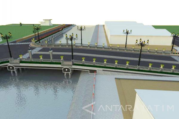 Peresmian Jembatan Ratna Ngagel Surabaya Molor