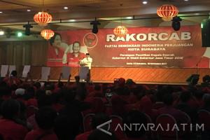 Gus Ipul-Anas Sampaikan Komitmennya di Rakorcab PDIP Surabaya