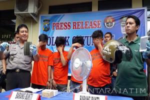 Polisi Surabaya Tangkap Komplotan Bandit Jalanan
