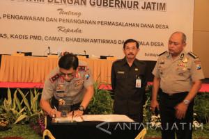 Cegah Korupsi Dana Desa, Polda-Pemprov Jatim Jalin Kerja Sama.