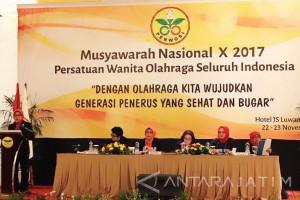 Ketua Perwosi Jatim Paparkan Program di Munas