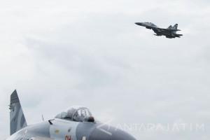 Sebanyak 17 Pesawat Tempur Latihan MOT di Iswahjudi