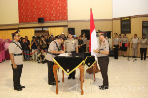 Kapolda Jatim Pimpin Pelantikan Sejumlah Pejabat dan Kapolres