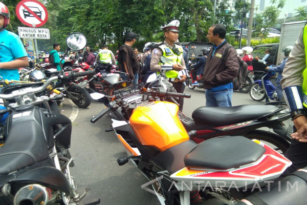 Polrestabes Surabaya Amankan 55 Motor Knalpot