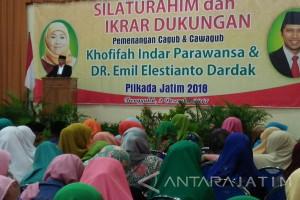 Ratusan Kiai-Santri Deklarasi Dukungan Khofifah-Emil di Pilgub Jatim