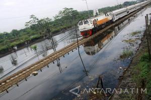 Potensi Pendapatan Daop 8 Surabaya Hilang Rp615 Juta Akibat Banjir Porong