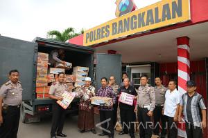 Polres Bangkalan Kirim Bantuan Kemanusiaan ke Pacitan