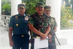 Hadi Tjahjanto Laporkan Soliditas TNI kepada Jokowi