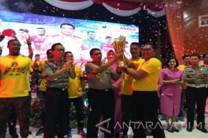 Bhayangkara FC Konvoi Juara Liga I Keliling Surabaya (Video)