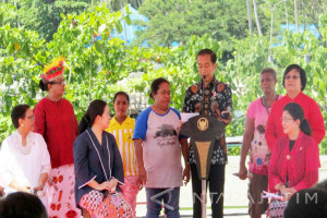 Jokowi Attends Mothers Day in Raja Ampat