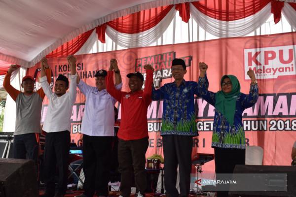 Pasangan Calon Bupati-Wabup Magetan Deklarasikan Kampanye Damai