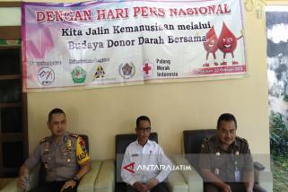 Wartawan Pamekasan Gelar Donor Darah Sambut HPN (Video)