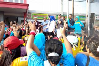 Kampanye di Pasar, Margiono Ajak Ibu-ibu Berjoget