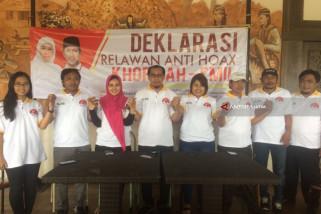 Relawan Antihoaks Siap Kawal Khofifah-Emil
