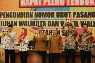 KPU Kota Madiun Tetapkan Nomor Urut Pasangan Calon