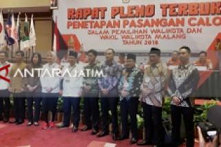 KPU Malang Tetapkan Tiga Pasangan Calon Peserta Pilkada