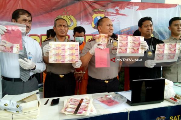 Polres kediri Ungkap Sindikat Pembuat Uang Palsu (Video)