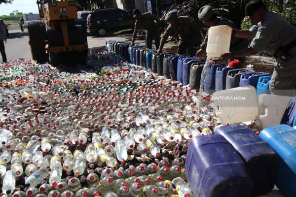 Polres Ponorogo Ungkap Dua Kasus Penjualan Minuman Keras