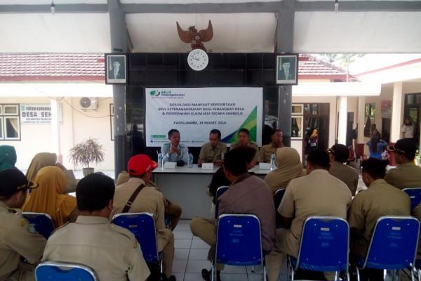 Di Lumajang, Perangkat 108 Desa Terlindungi BPJS Ketenagakerjaan