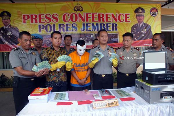 Pencetak dan Pengedar Uang Palsu di Jember Ditangkap (Video)