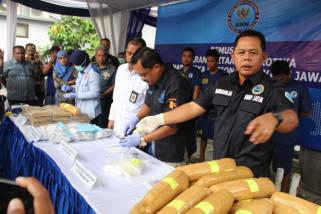 BB Narkotika Hasil Ungkap Dua Bulan Dimusnahkan BNNP Jatim