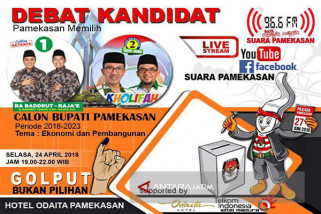 KPU Gandeng Suara Pamekasan Gelar Debat Kandidat