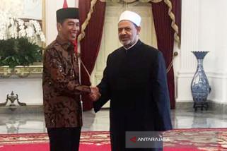 Jokowi Terima Kunjungan Grand Syeikh Al-Azhar (Video)