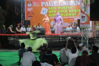 Cegah Golput, KPU Kediri Gelar Seni Budaya