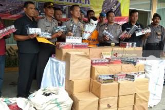 Polres Jember Sita Ribuan Rokok Tanpa Cukai Berbagai Merk